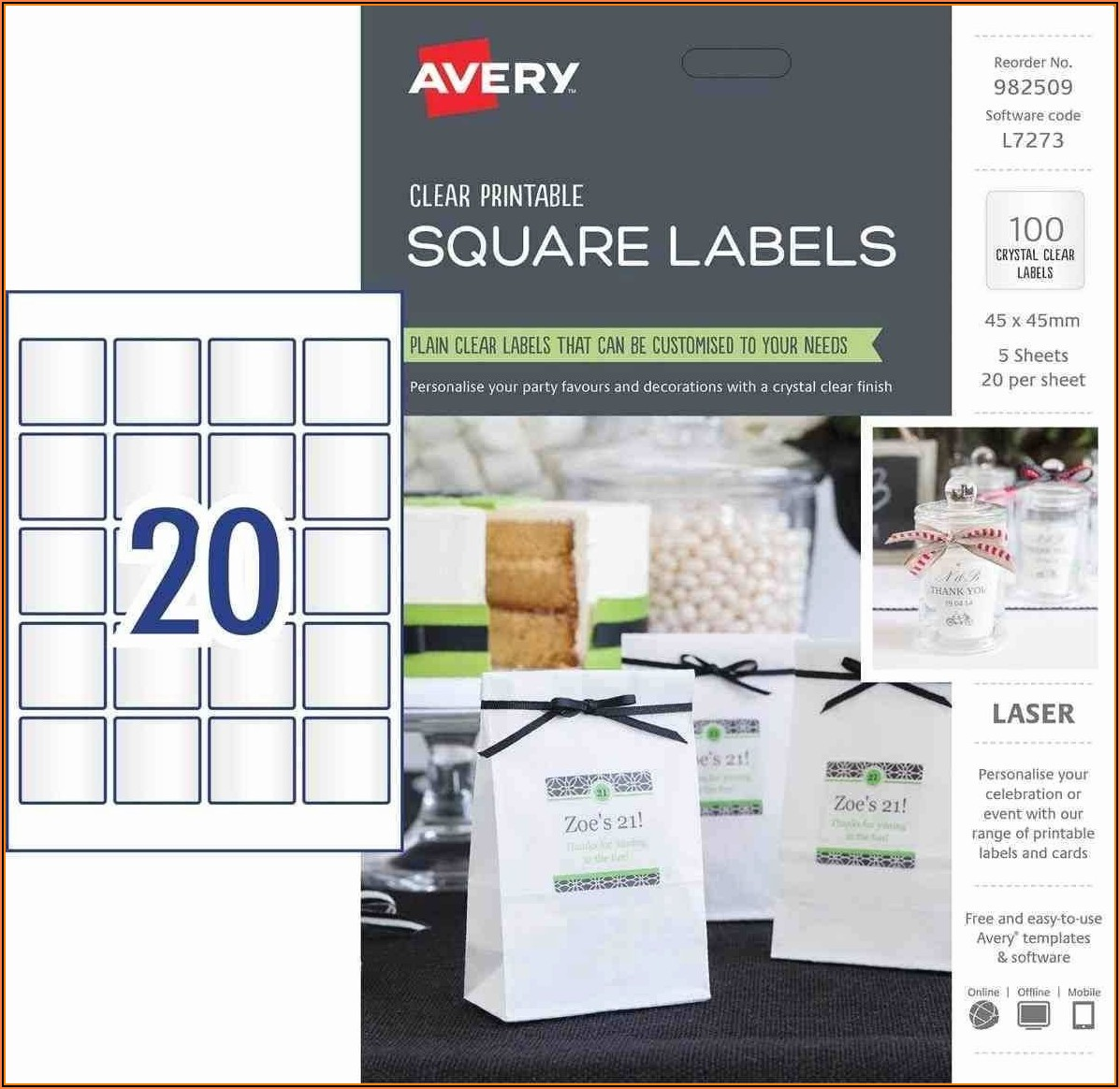 Avery File Label Template 8366