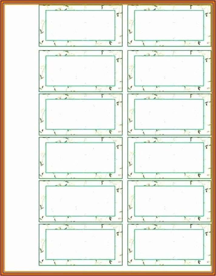 Avery File Labels Template