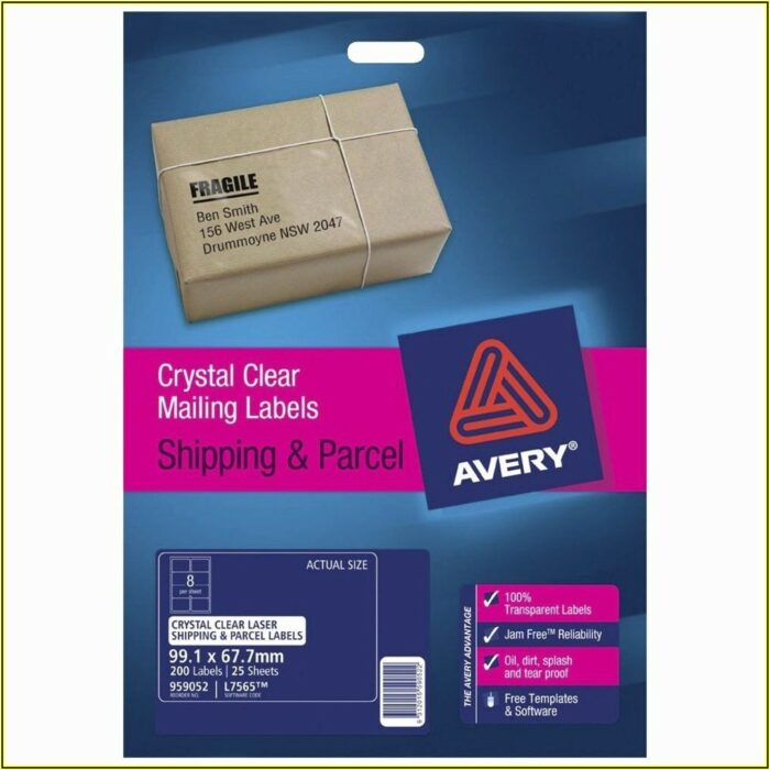 Avery Shipping Labels 8 Per Page Template