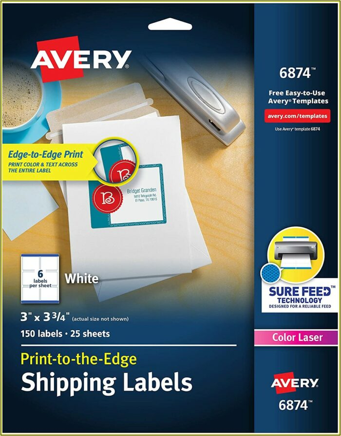 Avery Sticker Template 6878