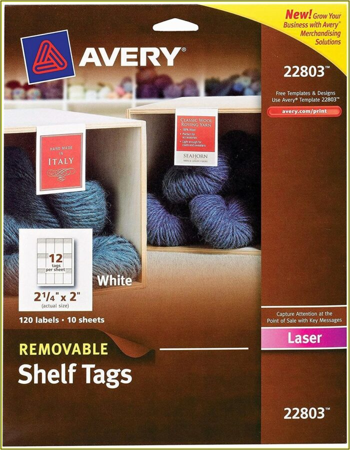 Avery Tags Template