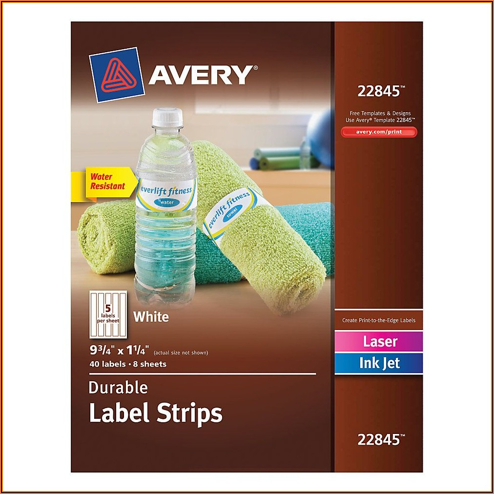 Avery Wraparound Water Bottle Labels Template