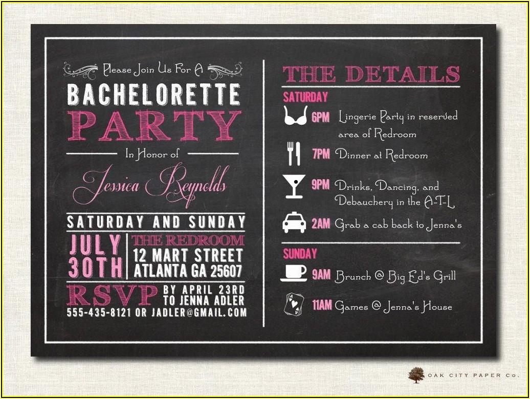 Bachelorette Invites Templates