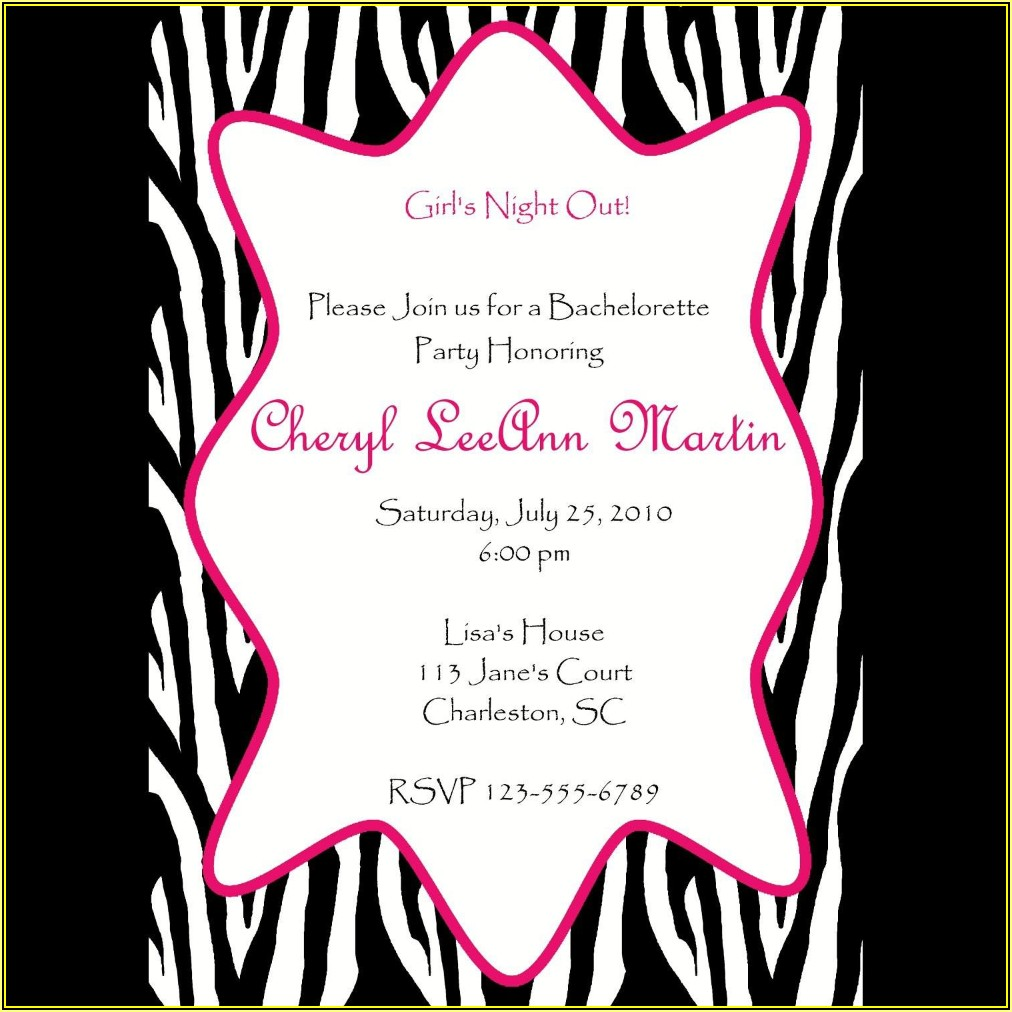 Bachelorette Party Invite Templates