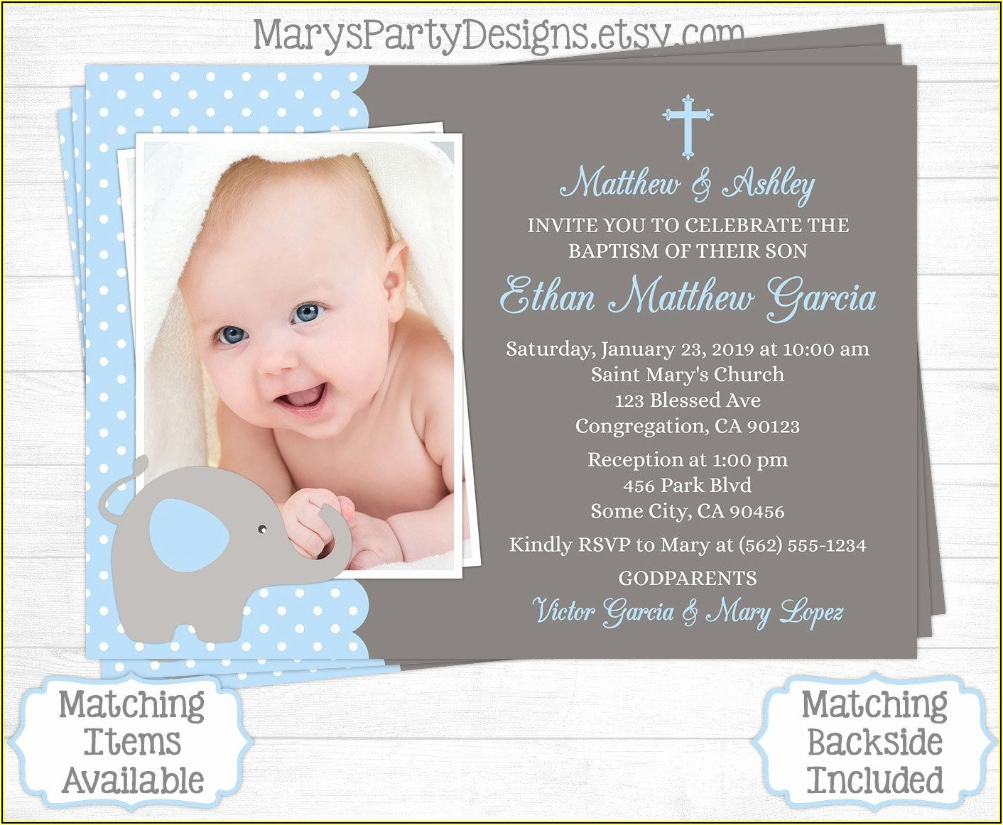 Baptism Invitation Template Canva