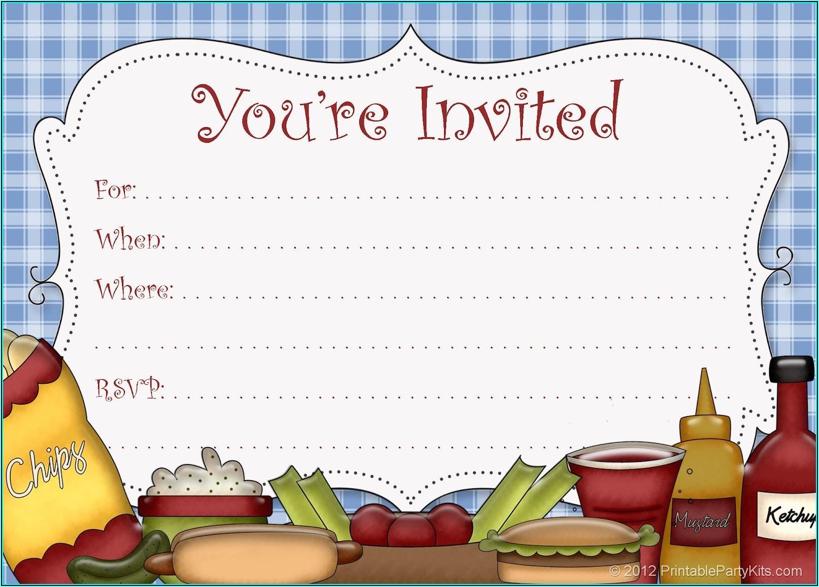 Bbq Invite Template Free