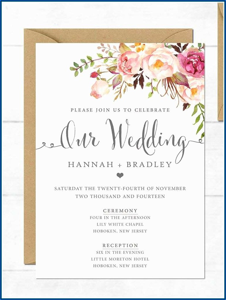 Beach Wedding Invitation Templates Download