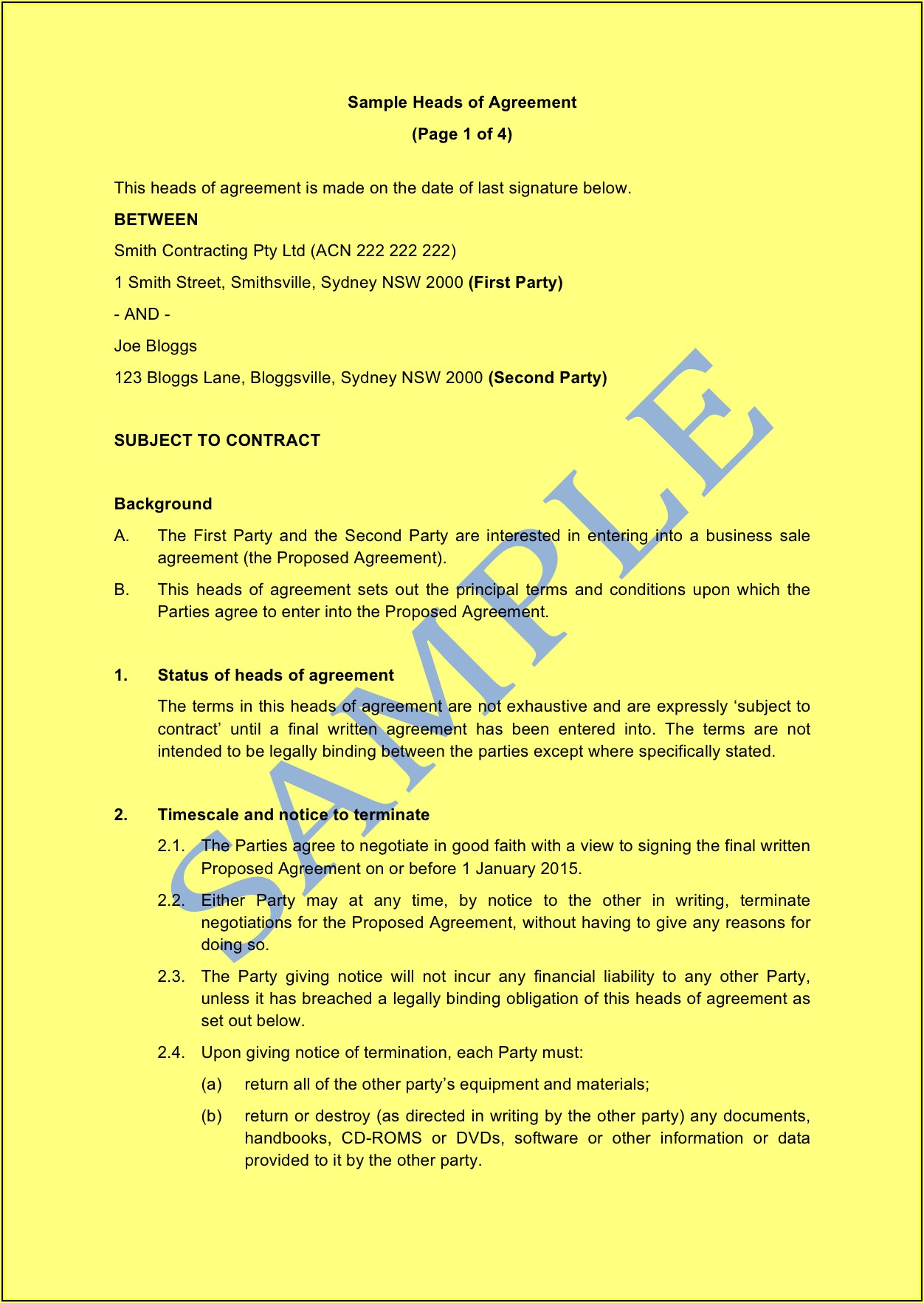 Binding Financial Agreement Template Nsw