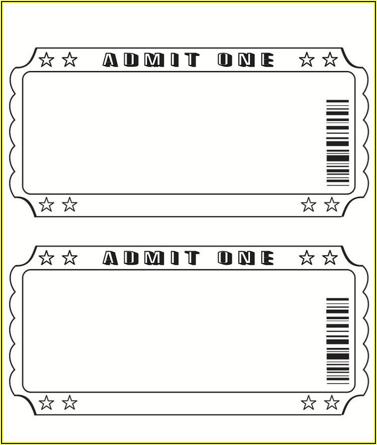 Blank Movie Ticket Stub Template