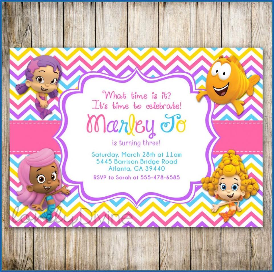 Bubble Guppies Birthday Invitation Template