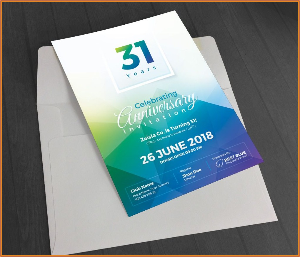 Business Anniversary Invitation Template