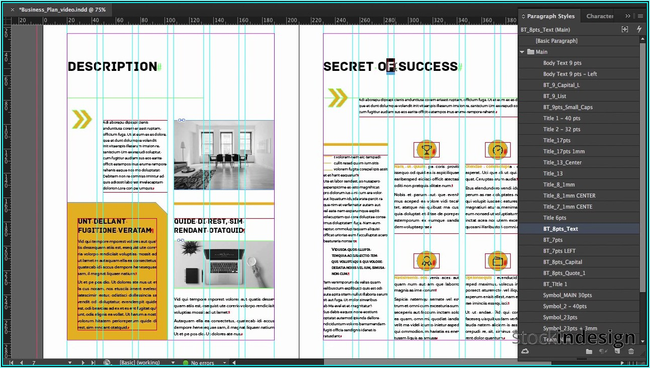 Business Plan Template Indesign
