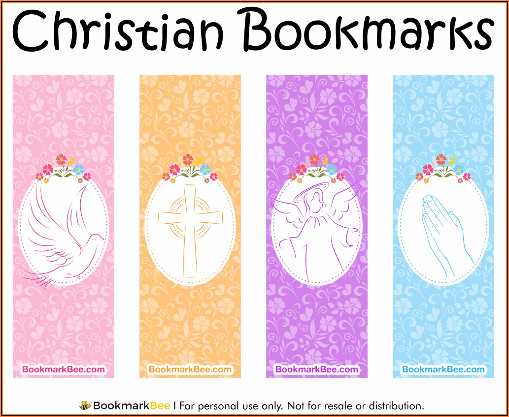 Christian Bookmark Template Pdf