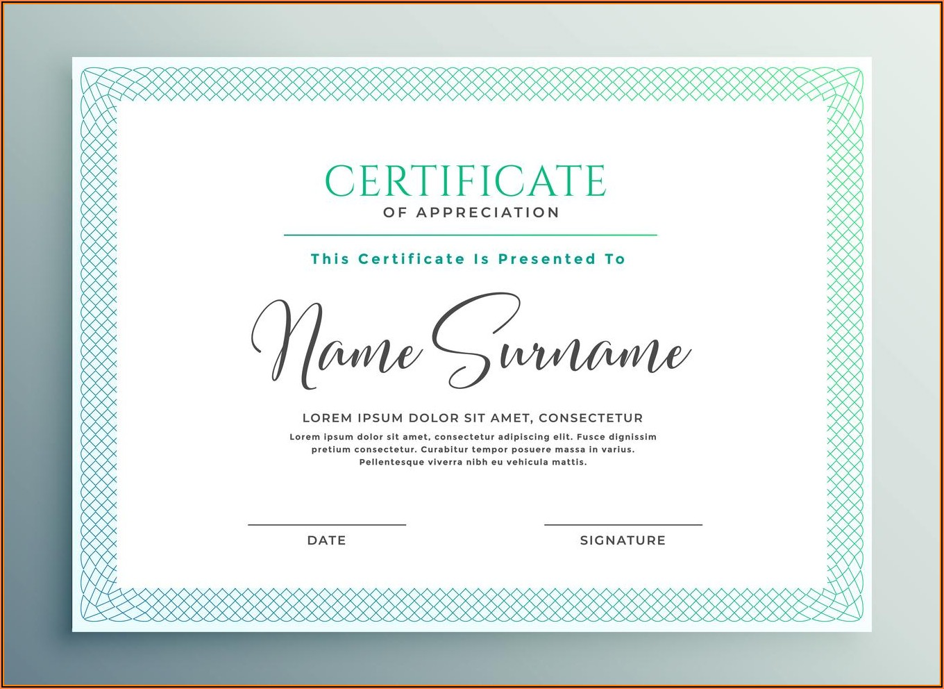 Christian Certificate Of Appreciation Sample