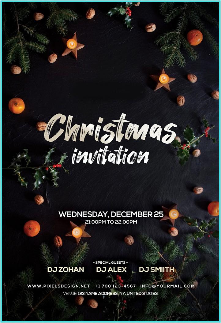 Christmas Invitation Templates Psd Free Download