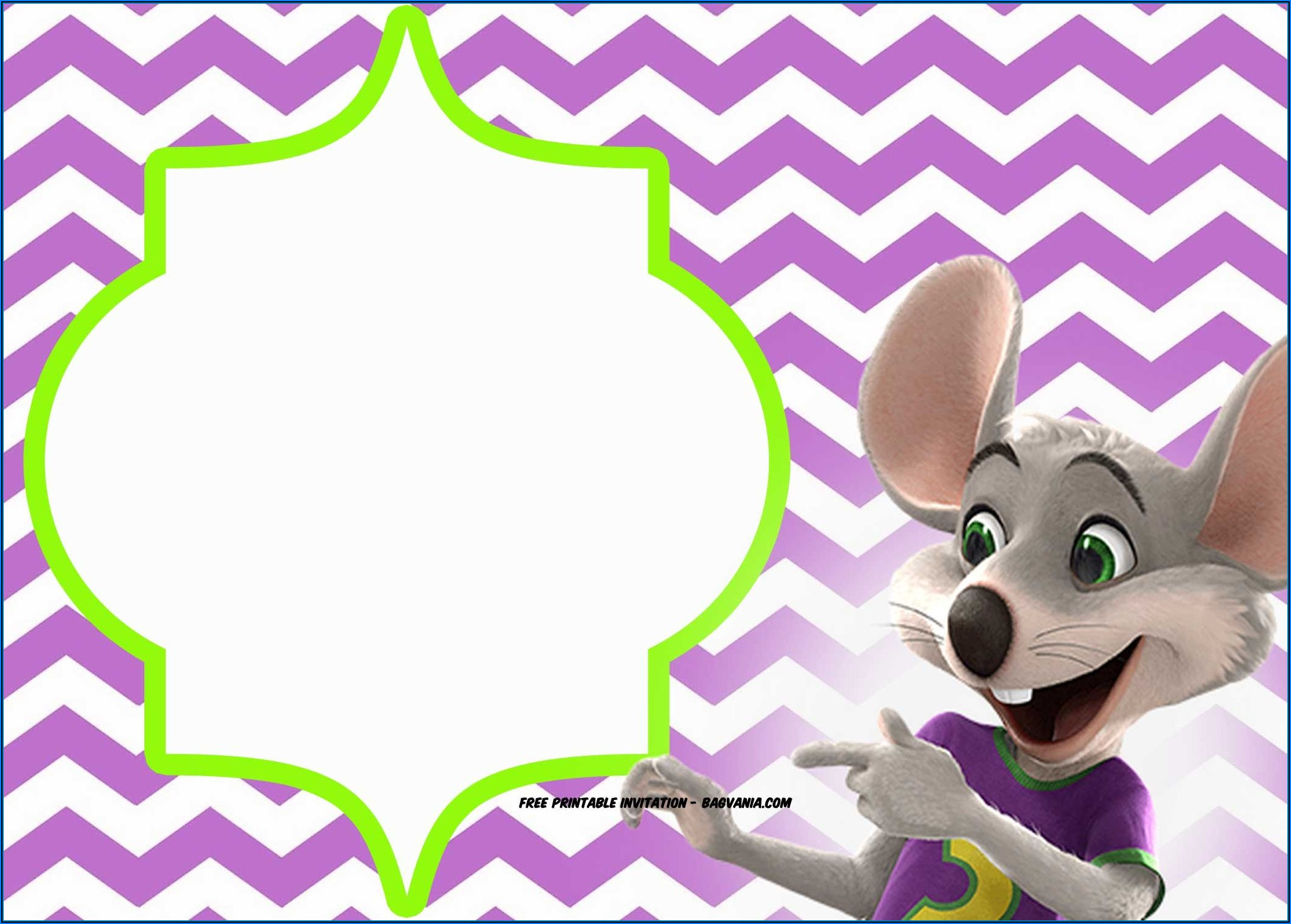 Chuck E Cheese Invitation Template