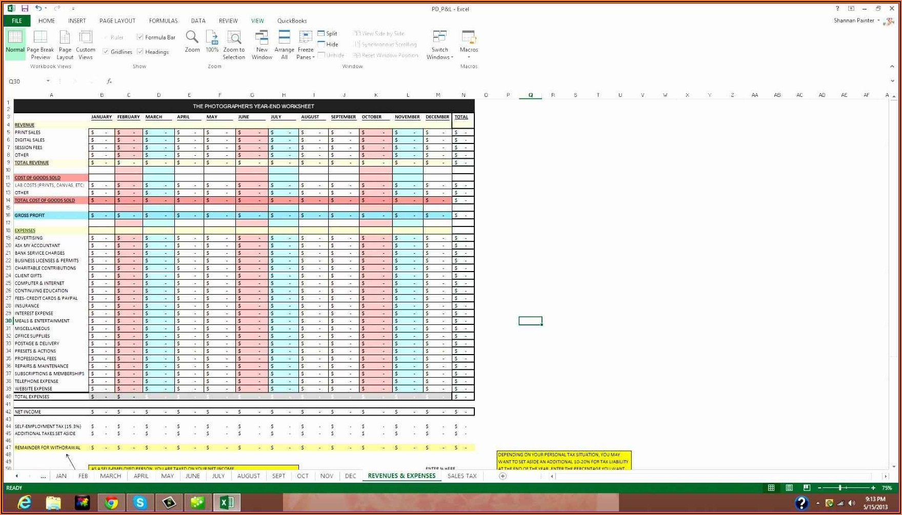 Client Database Excel Template