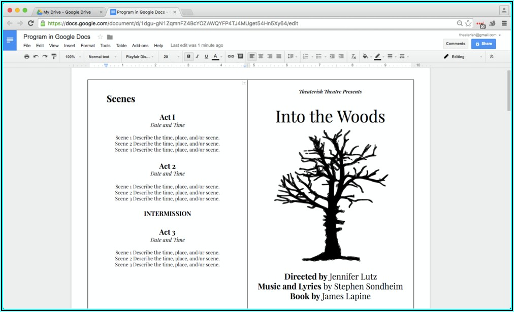 Cookbook Template Google Docs