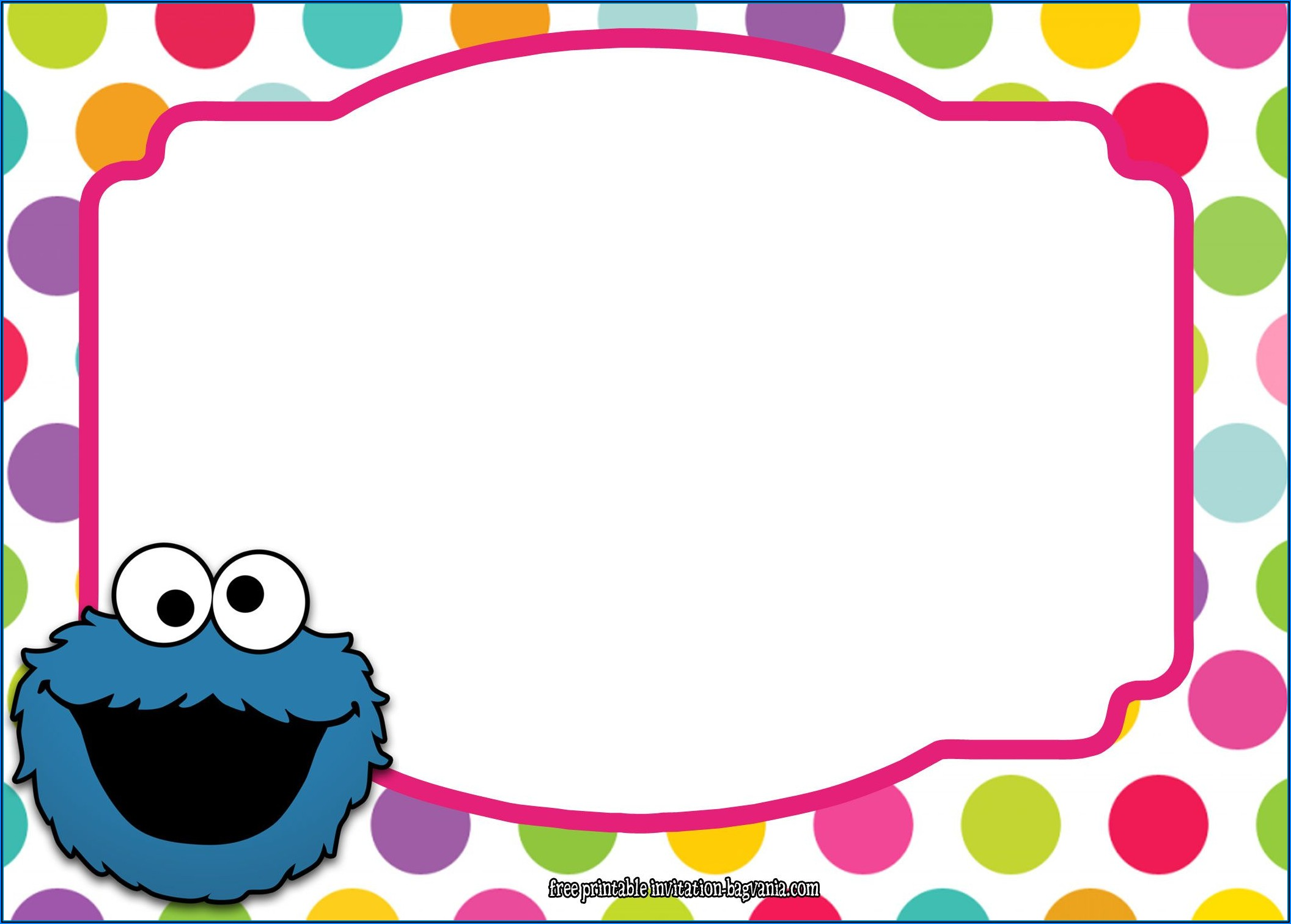 Cookie Monster Invitation Template Free