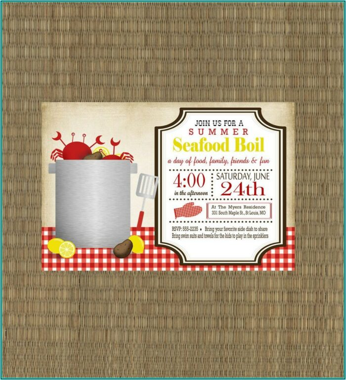 Crawfish Boil Invitation Templates Free