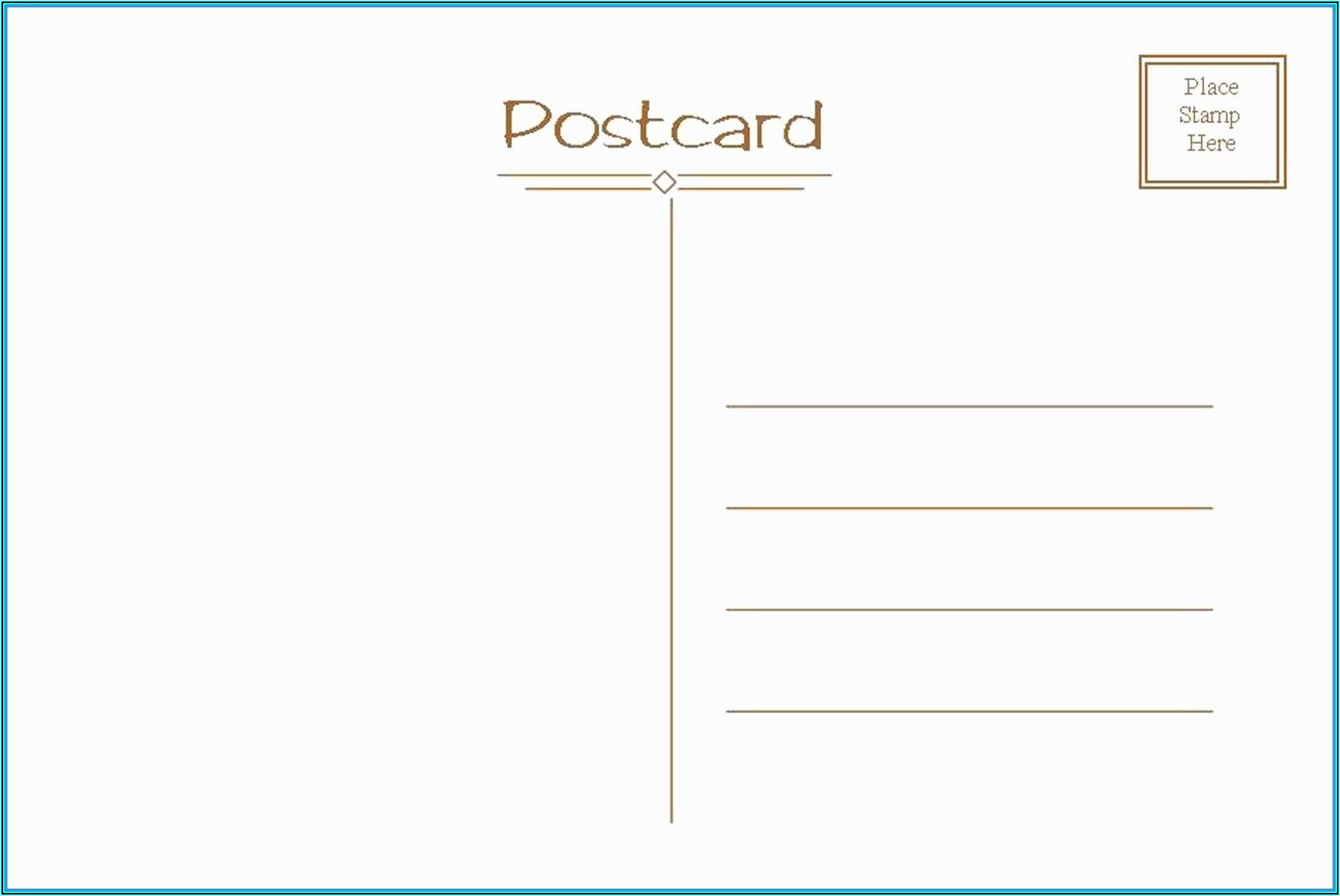 Create Your Own Postcard Template Free
