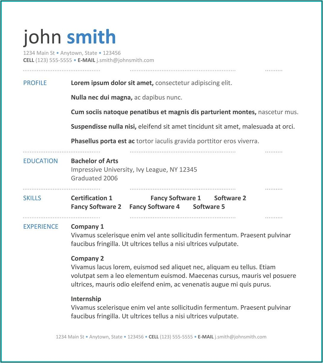 Create Your Own Resume Template Free