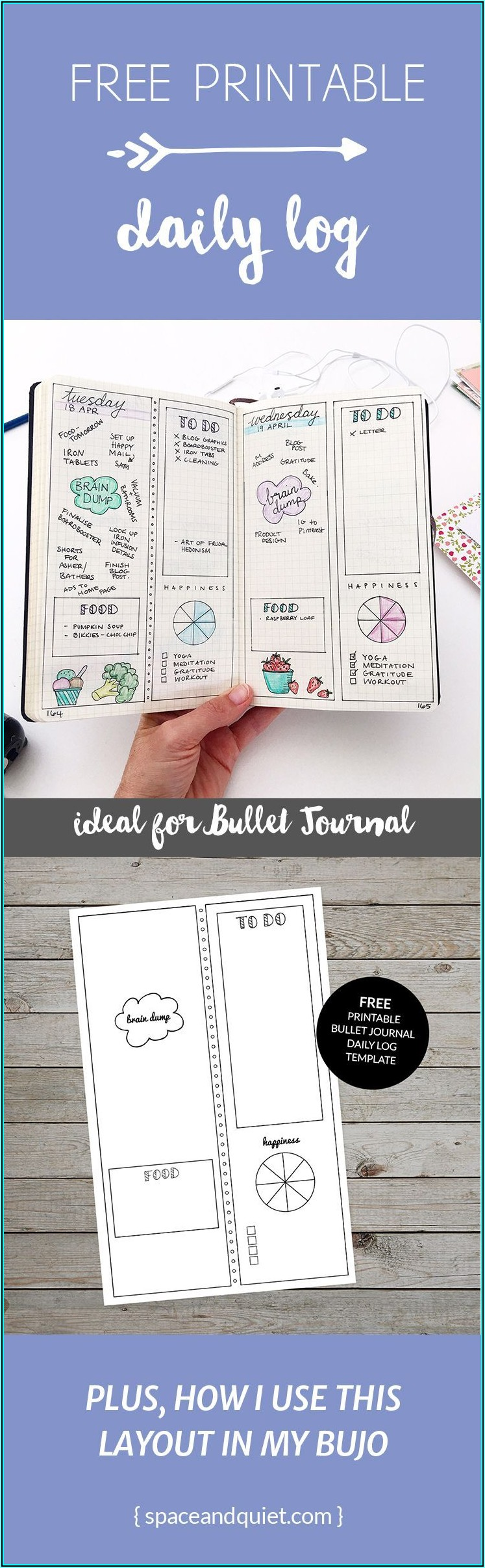 Daily Log Journal Template