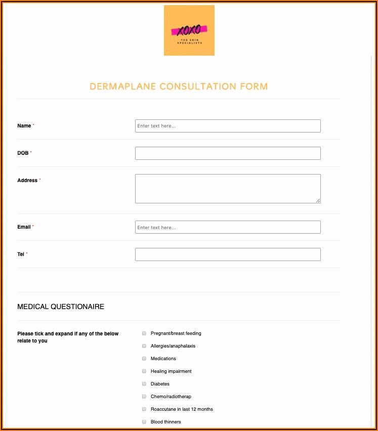 Dermaplaning Consultation Form