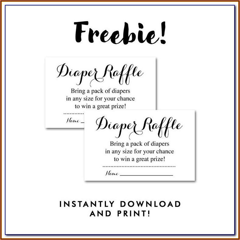 Diaper Raffle Tickets Free Template