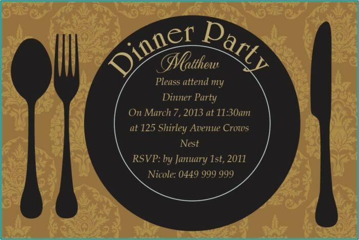 Dinner Party Invitation Templates