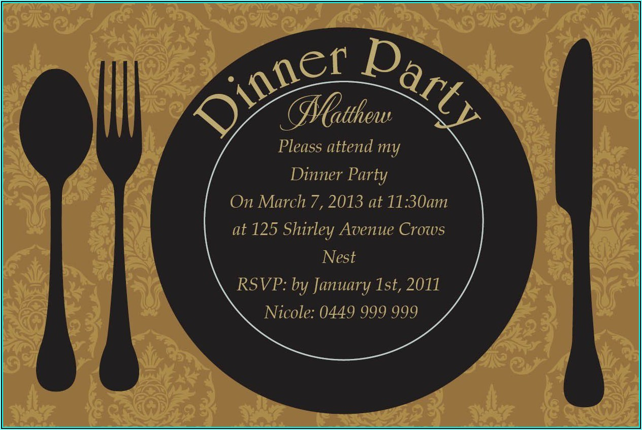 Dinner Party Invitation Templates