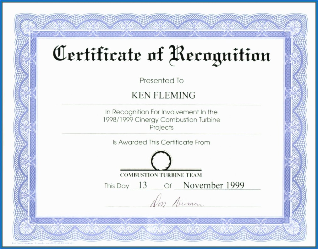 Diploma Certificate Template Word