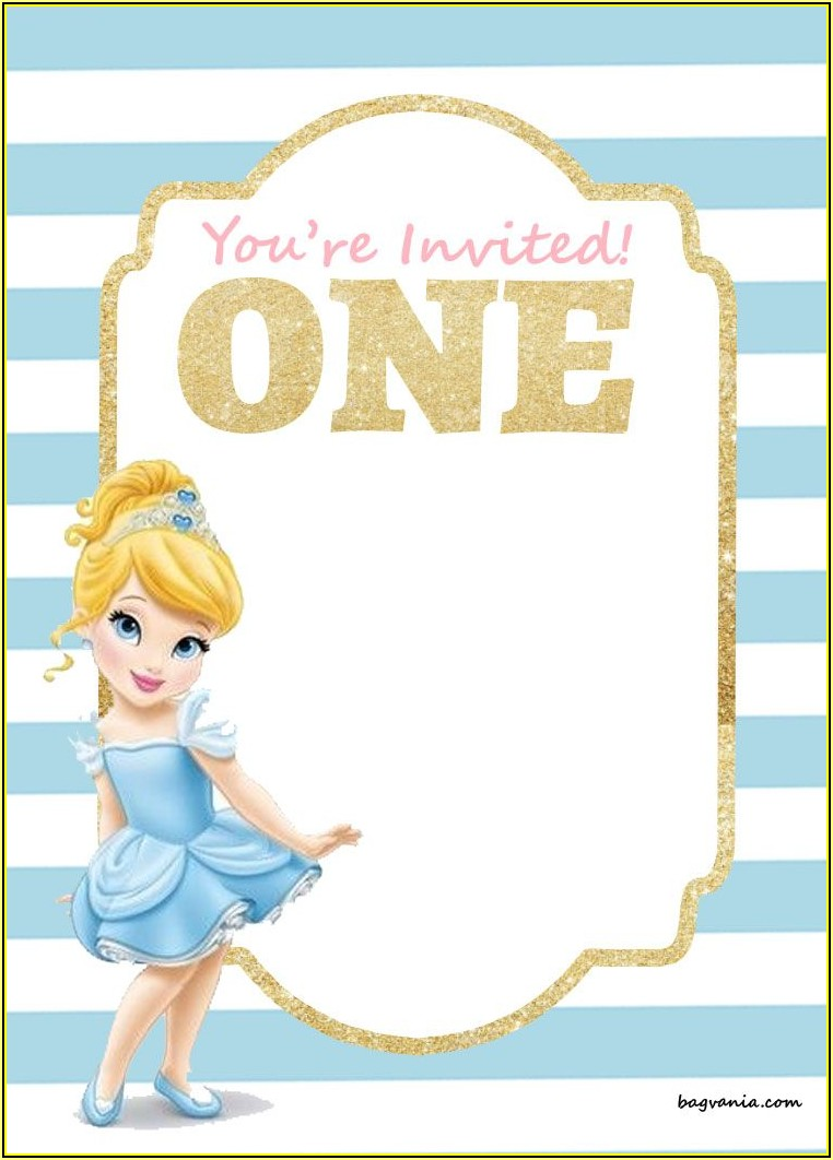 Disney Princess Party Invitations Templates Free
