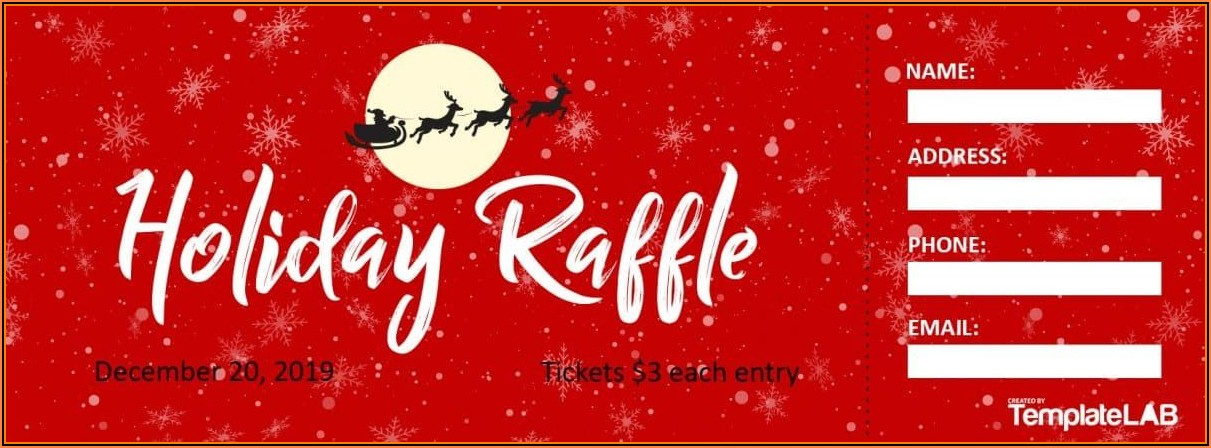 Editable Raffle Ticket Template Free
