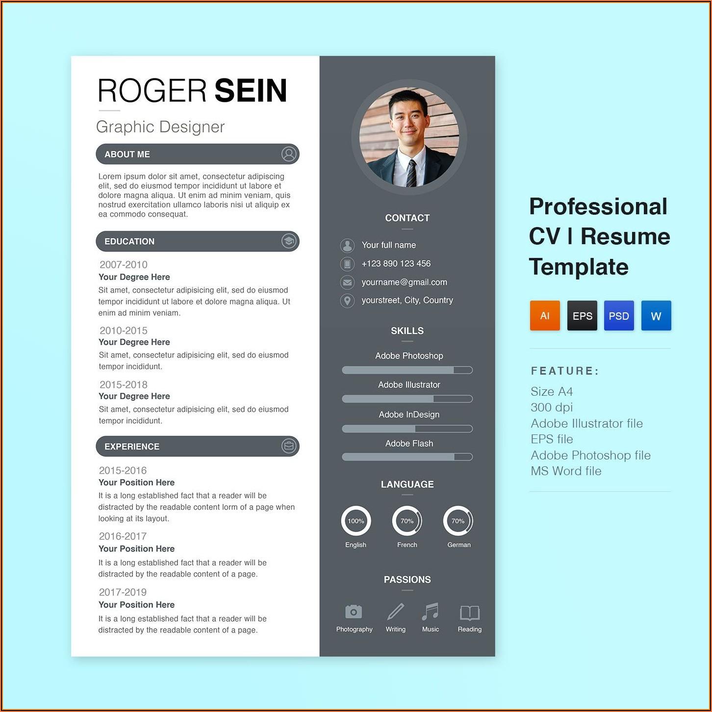 Elegant Cv Templates Free