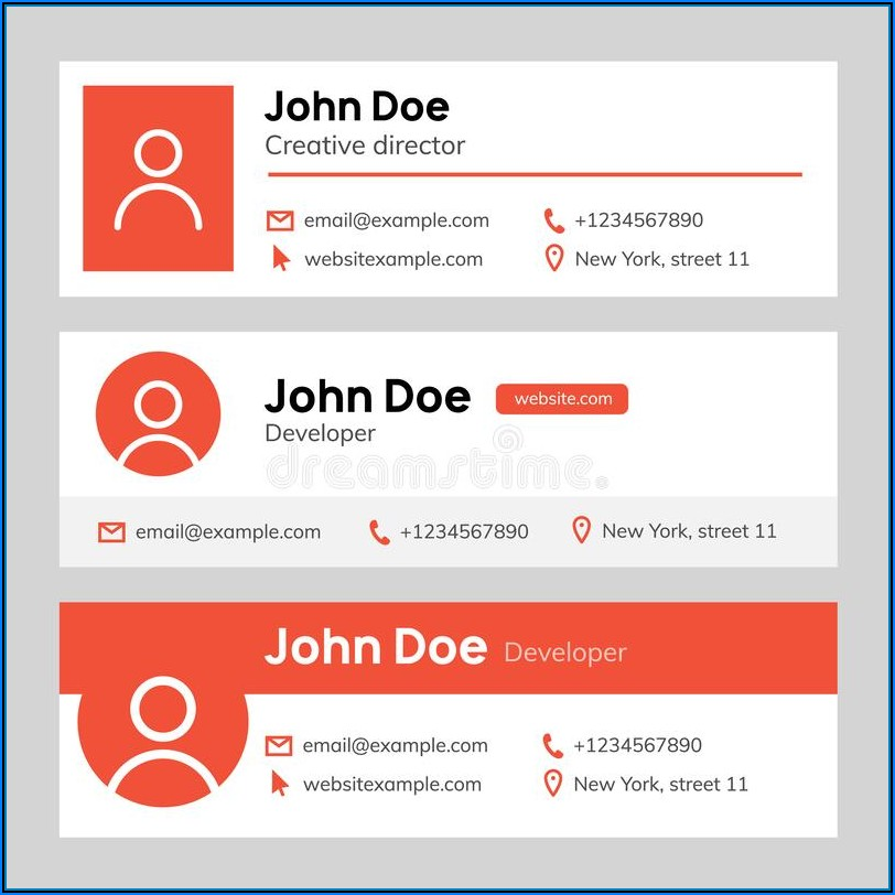 Email Signature Banner Template