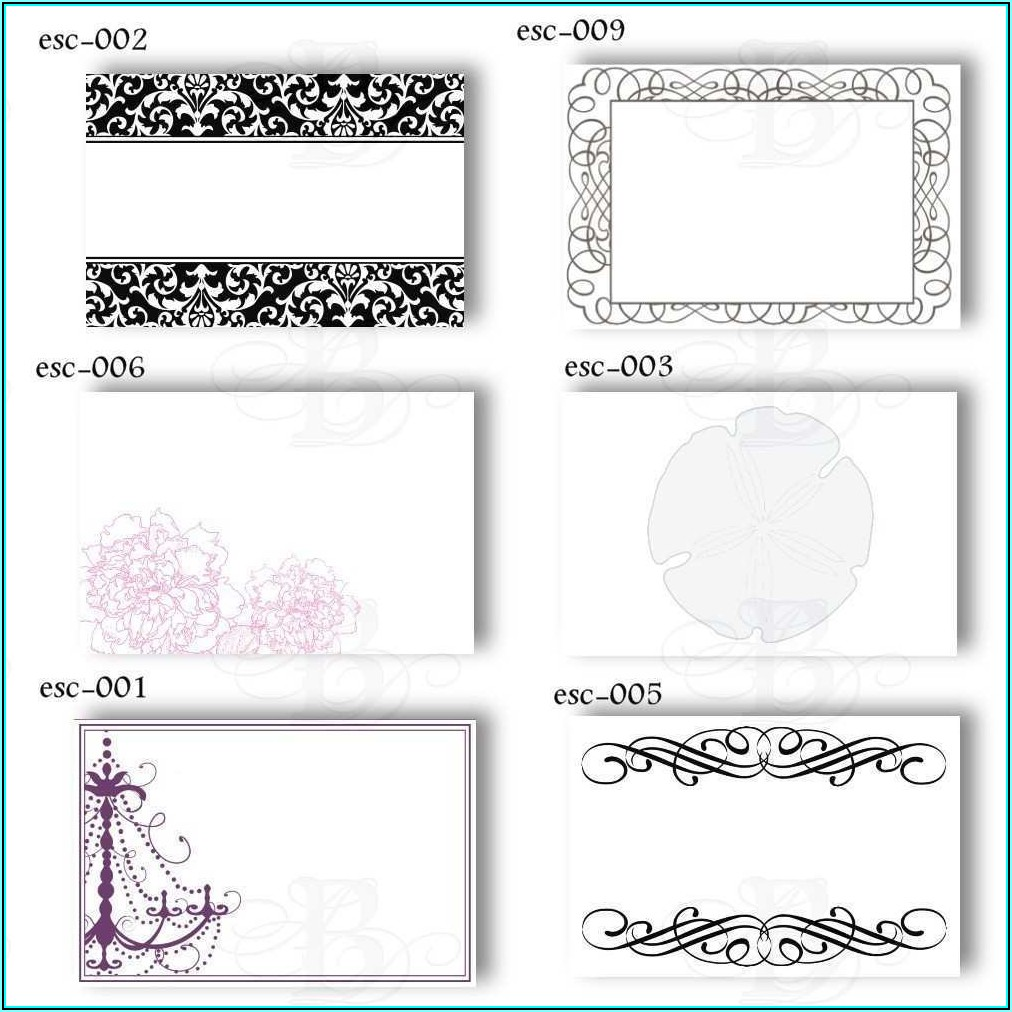 Escort Cards Template Free