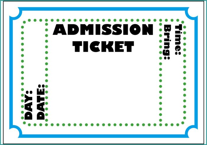 Fake Theatre Ticket Template