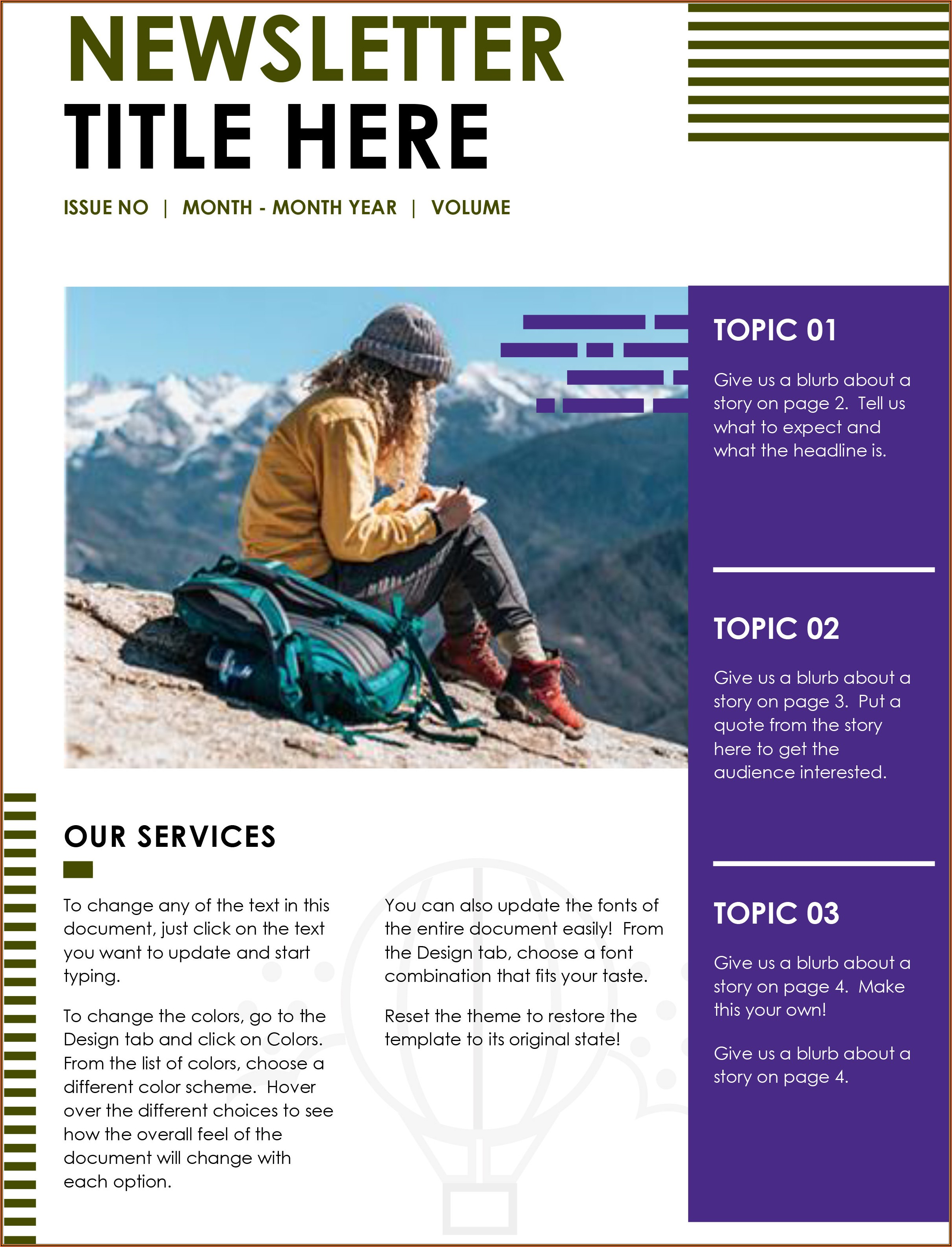 Free Community Newsletter Templates For Microsoft Word
