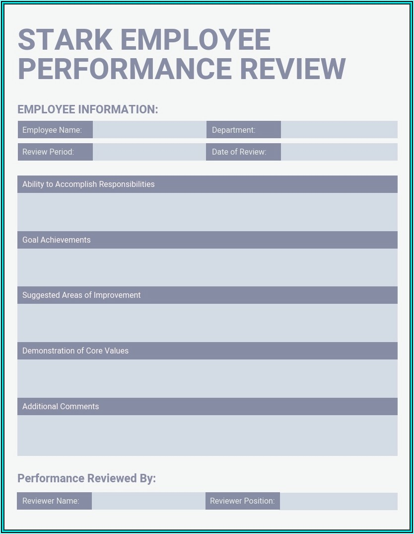 Free Employee Performance Review Template
