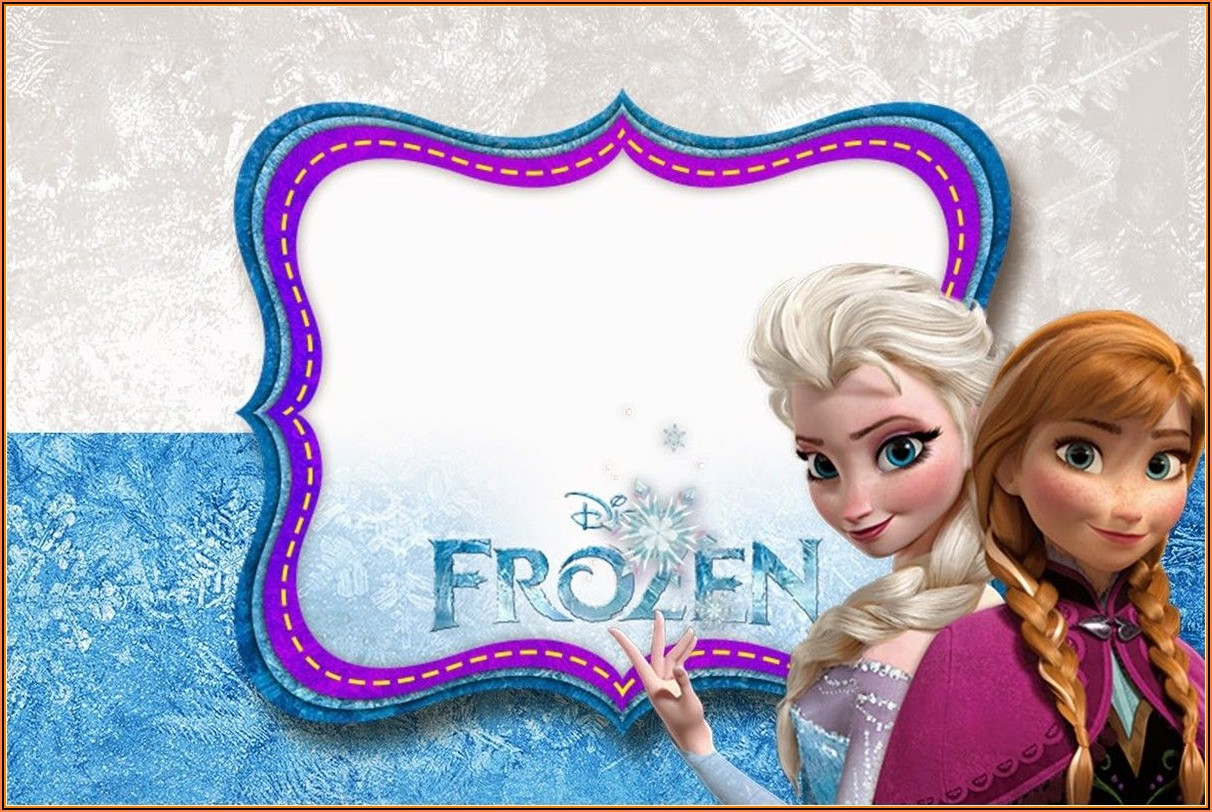 Free Frozen Birthday Invitation Card Template