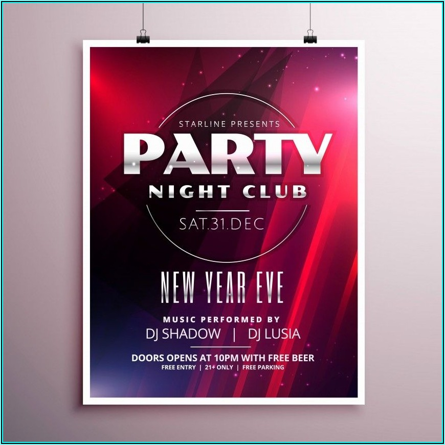 Free Party Flyer Templates Word