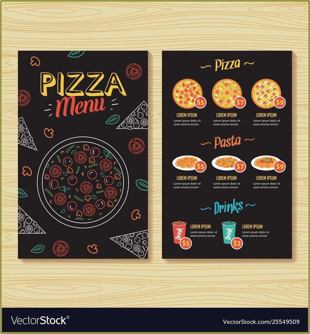 Free Pizza Menu Templates