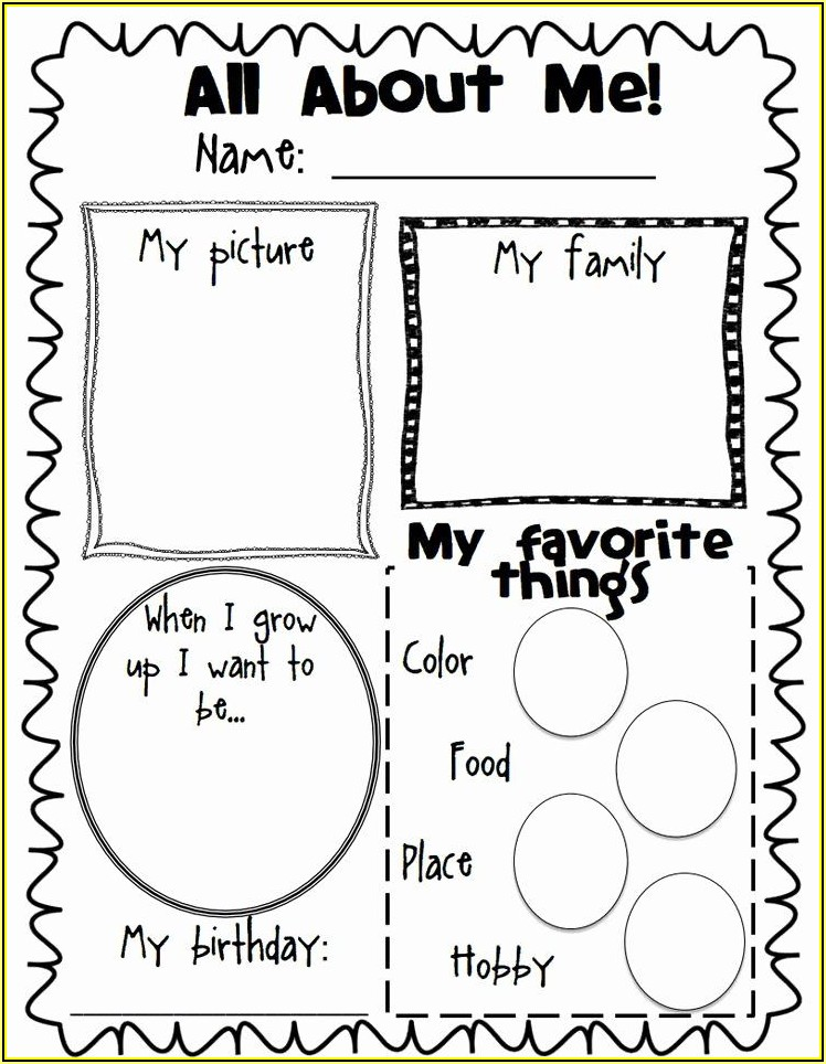 Free Printable All About Me Poster Template Doc