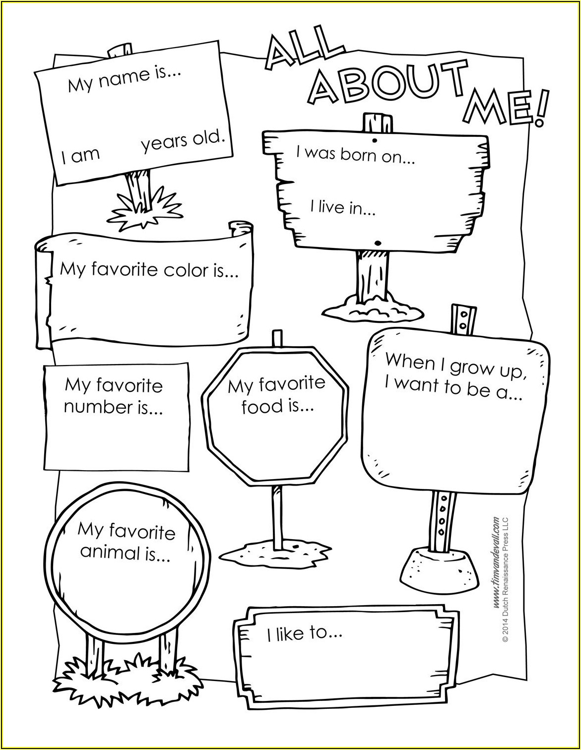 Free Printable All About Me Poster Template