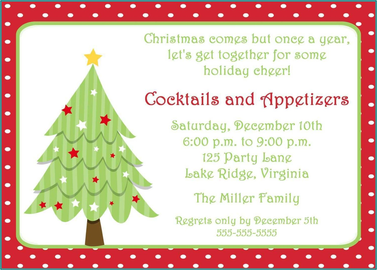 Free Printable Christmas Party Flyer Templates Word