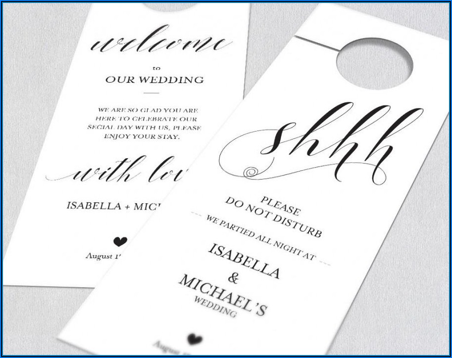 Free Printable Wedding Door Hanger Template