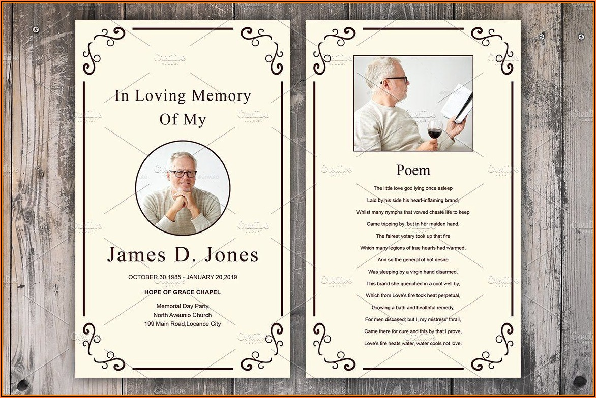 Funeral Card Templates