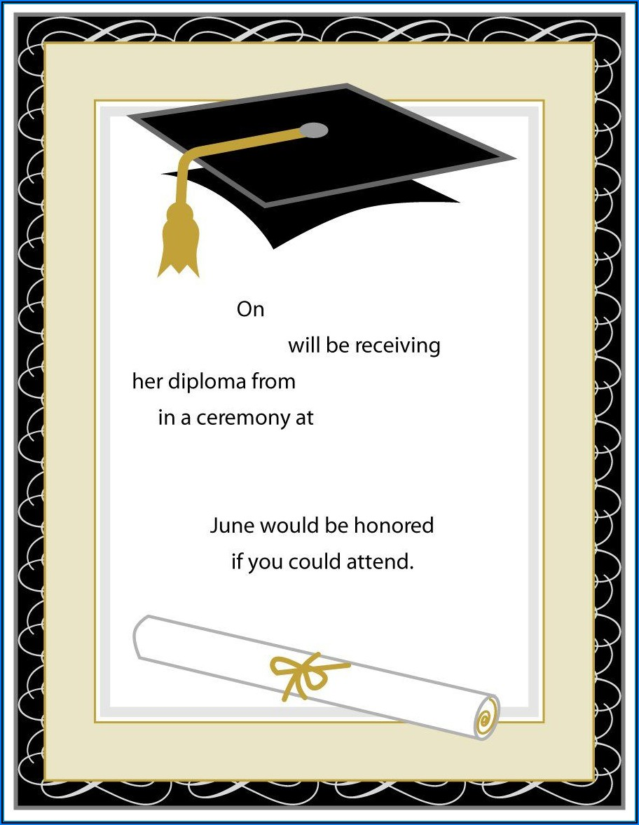 Graduation Invitations Word Templates