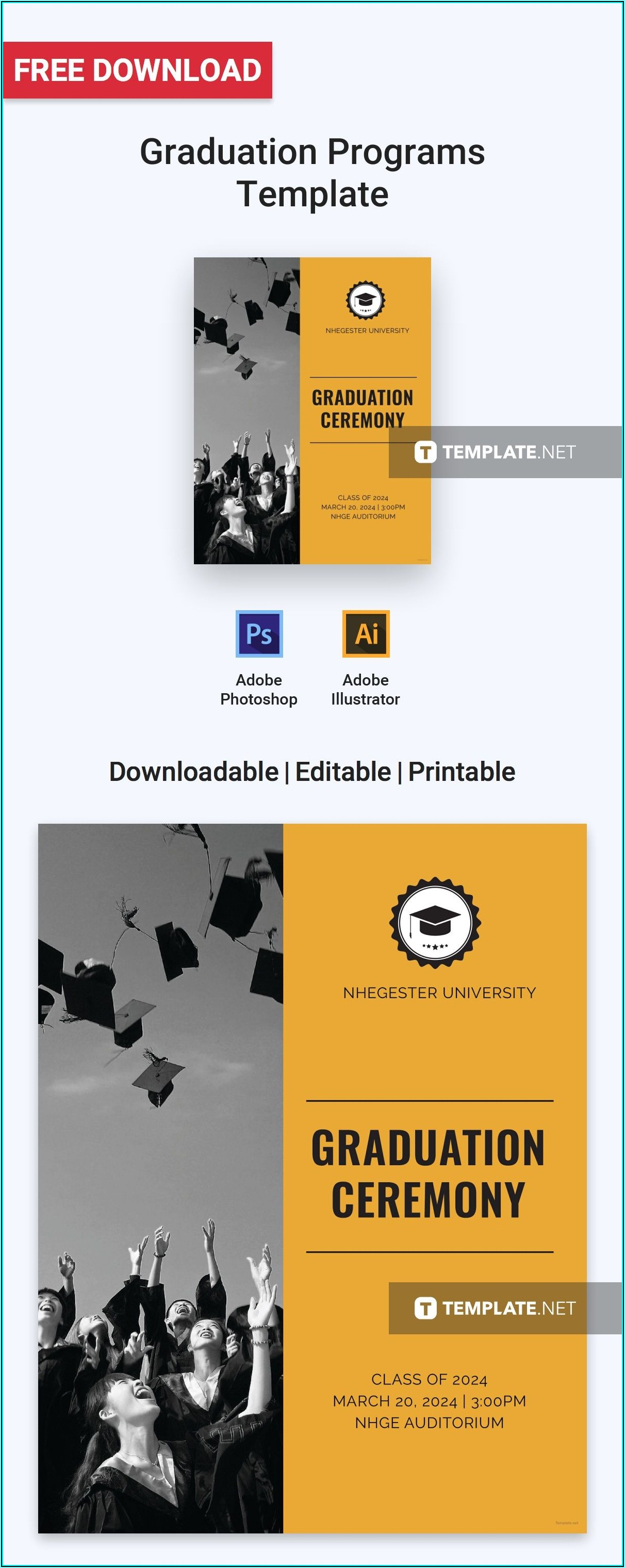 Graduation Party Program Templates Free